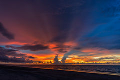 Sunset. On the tropical  coast Royalty Free Stock Images