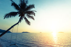 Sunset on the tropical coast Stock Photo