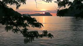 Sunset on a tropical island. El Nido. Philippines. stock video footage