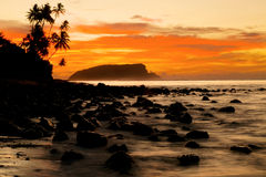 Sunset Tropical Island Evening Concept Royalty Free Stock Photography
