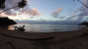 Sunset and Tropical Island in Fiji stock video footage