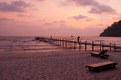 Sunset on the tropical island of Koh Kood Royalty Free Stock Photo