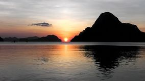 Sunset on tropical island. Philippines. On a tropical island. Palawan island. Philippines stock video
