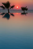 Sunset in tropical paradise Royalty Free Stock Photo