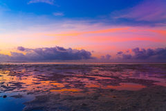 Sunset  tropical sea Royalty Free Stock Photo