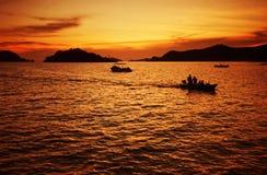 Sunset of tropical sea Stock Photo