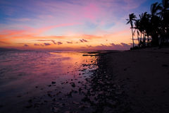 Sunset  tropical sea Royalty Free Stock Image
