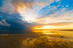 Sunset  tropical sea Stock Photo