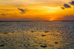 Sunset  tropical sea Stock Image