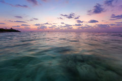 Sunset in the tropical sea. Sunset in the Indian ocean Royalty Free Stock Image