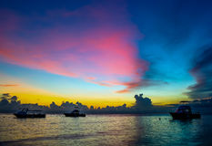 Sunset in the tropics Stock Image