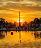 Sunset at Tuileries Gardens, Paris Stock Images