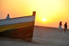 Sunset in Tunisia stock images
