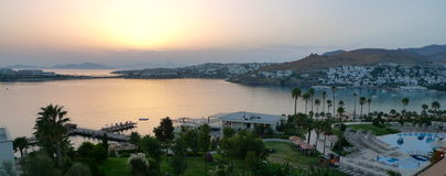 Sunset in Turkey Bodrum Royalty Free Stock Images