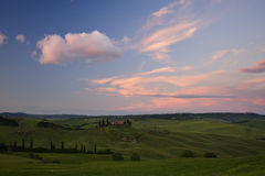Sunset in Tuscany Stock Image