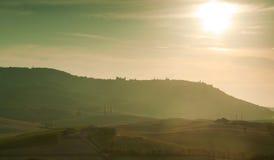 Sunset in Tuscany Italy Royalty Free Stock Photo