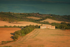 Sunset in Tuscany Italy Royalty Free Stock Photography
