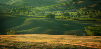 Sunset in Tuscany Italy Stock Images
