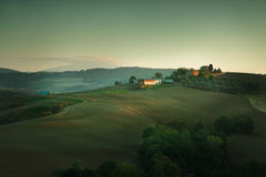 Sunset in Tuscany Italy Stock Photo