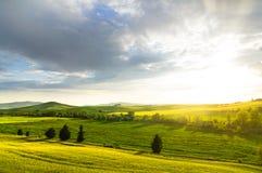 Sunset Tuscany Royalty Free Stock Images