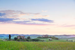 Sunset Tuscany Royalty Free Stock Photos