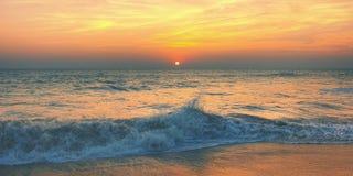 Sunset Twilight Dusk Beach Wave San Concept Royalty Free Stock Photos