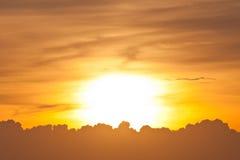 Sunset on twilight horizon sky Royalty Free Stock Image