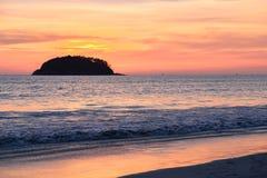 Sunset and Twilight at the kata beach phuket Stock Images