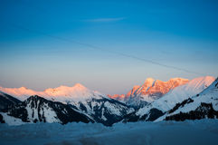 Sunset of tyrolean alps Royalty Free Stock Photo