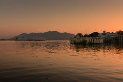 Sunset at Udaipur India Stock Images