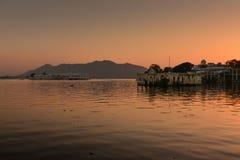 Sunset at Udaipur India. Sunset at Pichola Lake, Udaipur India Stock Images