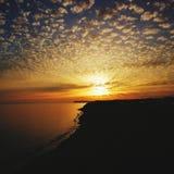 Sunset uk ilse of wight royalty free stock photos