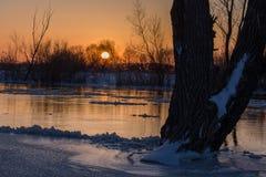 Sunset in  Ukraine Kuzn Royalty Free Stock Photo