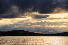 Sunset on Ulen lake Royalty Free Stock Photography