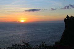 Sunset at Uluwatu Royalty Free Stock Photos