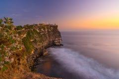 Sunset at Uluwatu temple. Bali Indonesia Stock Photography