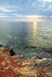 Sunset under the sea Stock Photo