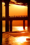 At sunset under the viaduct Royalty Free Stock Image
