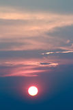 Sunset in an unusual color Royalty Free Stock Photo