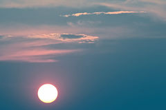 Sunset in an unusual color Stock Images