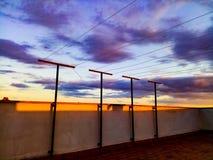 Sunset upfloor Royalty Free Stock Photography