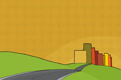Sunset Urban Scene vector illustration