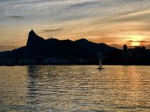 Sunset in Urca stock photos