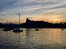 Sunset in Urca royalty free stock photo