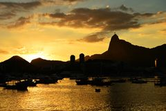 Sunset at Urca. This is the sunset at Urca Rio de Janeiro, Brazil Royalty Free Stock Photos