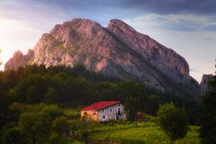 Sunset in Urkiola in Basque Country. Sunset in Urkiola in the Basque Country royalty free stock photos