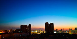 Sunset of Urumqi City Royalty Free Stock Images