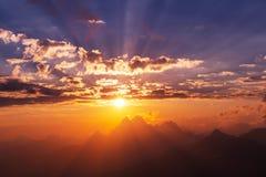 Sunset at Ushba Royalty Free Stock Photography