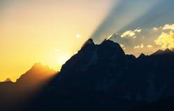 Sunset at Ushba Stock Images
