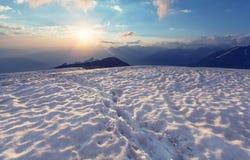 Sunset at Ushba Stock Image